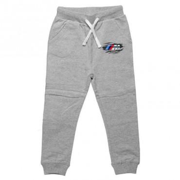 Spodnie dresowe długie przecierane logo BMW