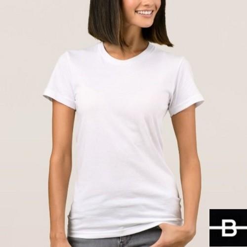 d0b7d448119c T-shirt damski biały - BANDEROLKA