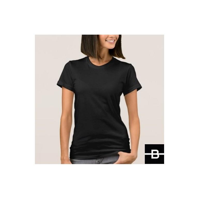 8d806c9189b7 T-shirt damski czarny - BANDEROLKA
