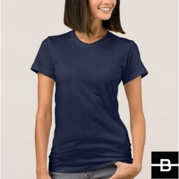 T-shirt damski granatowy