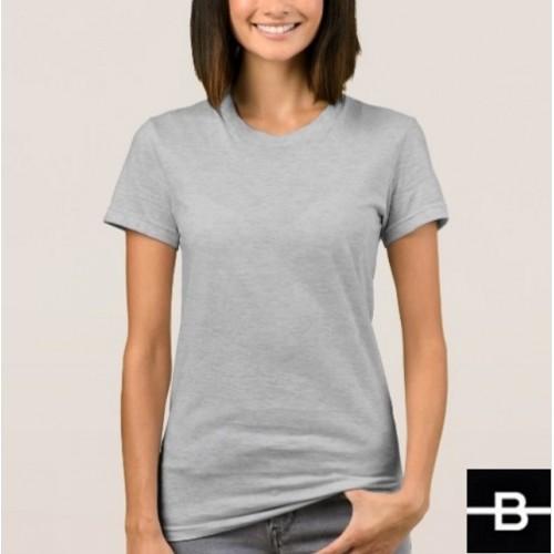 d201b6349343 T-shirt damski szary - BANDEROLKA