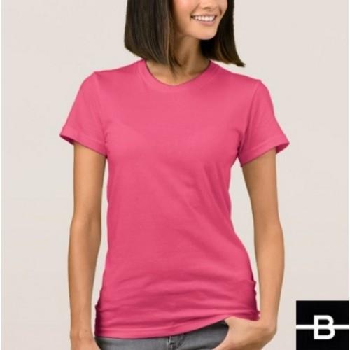 53a65c96f2f8 T-shirt damski różowy - BANDEROLKA