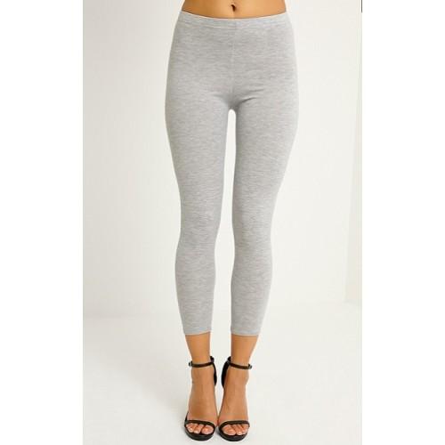 Spodnie dresowe damskie długie szare