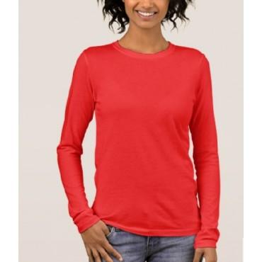 Long sleeve damska czerwona