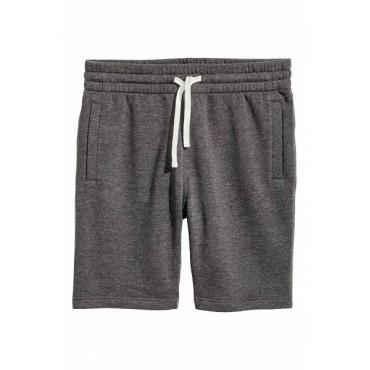 Spodnie dresowe męskie krótkie grafitowe